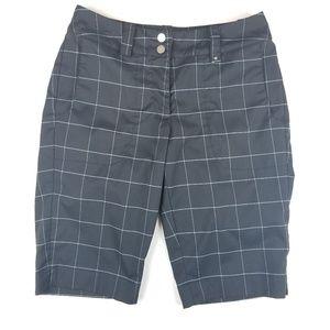 Womens Nike Golf Black Checker Shorts Size 4